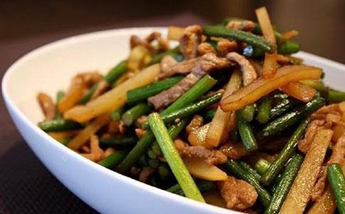 蒜苔的做法 蒜苔土豆炒肉丝